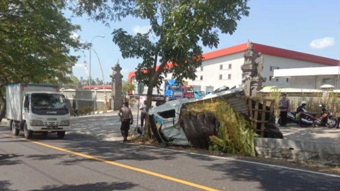 Mobil Pick Up Terguling Hingga Rusak Parah di Tabanan Bali, Hardiyono Selamat Dari Maut