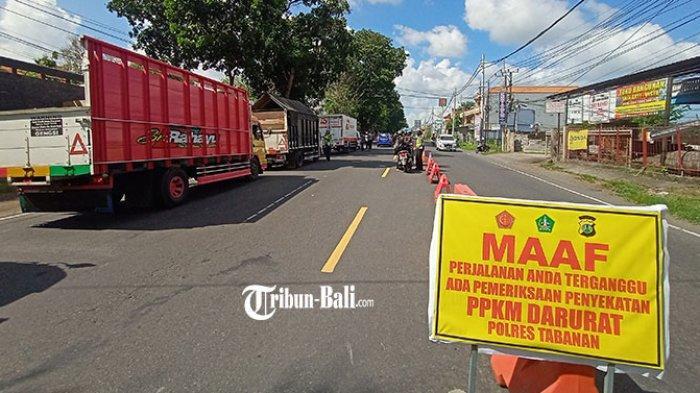 Tak Penuhi Syarat, 1.171 Kendaraan Diminta Putar Balik Selama PPKM Darurat di Tabanan