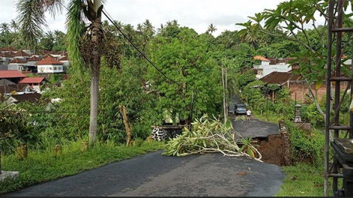 Enam Titik Bencana di Tabanan, Kerugian Rp 300 Juta, Penanganan Jalan Jebol Minta Bantuan ke Pemprov