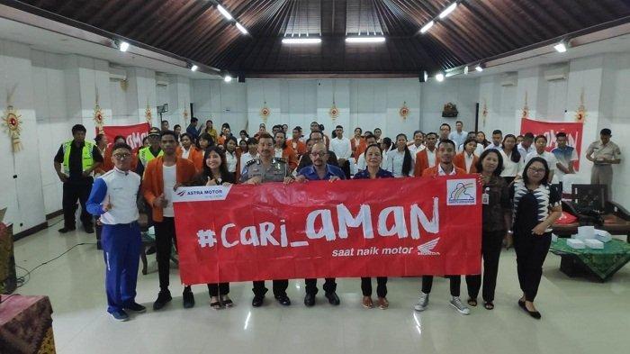 Bertajuk Sarjana Cari Aman, Seminar Safety Riding DigelarAstra Motor Bali dan Ditlantas Polda Bali