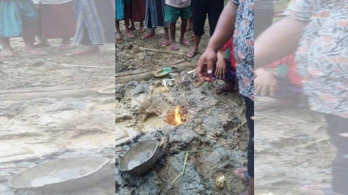 Galian Sumur Bor Keluarkan Api, Warga Diimbau Agar Menjauh dari Lokasi ini