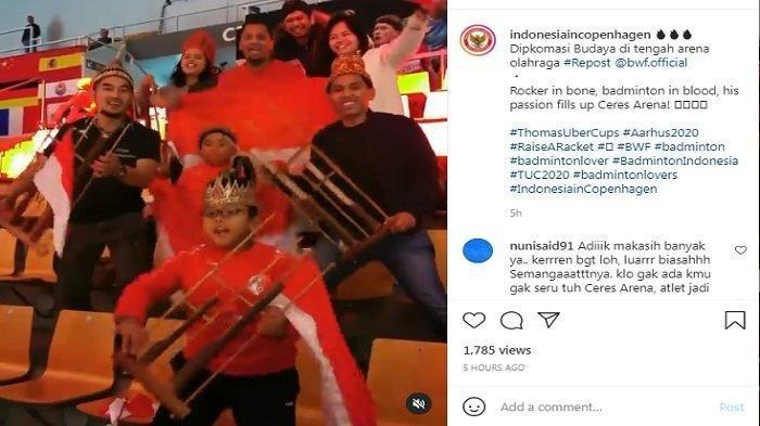 Ini Sosok Suporter Cilik Indonesia di Piala Thomas yang Tanpa Lelah Dukung & Hebohkan Ceres Arena