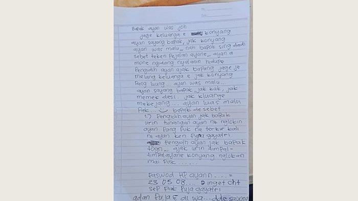 Pemuda 15 Tahun di Payangan Gianyar Bunuh Diri, Tinggalkan Surat dan Pesan Ini pada Sang Ayah
