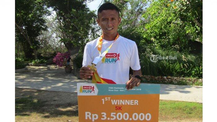 Sutrisno Bangga dan Senang Juara Circle K Run 2019, Tiga Kali Ikut Pertama Kali Naik Podium