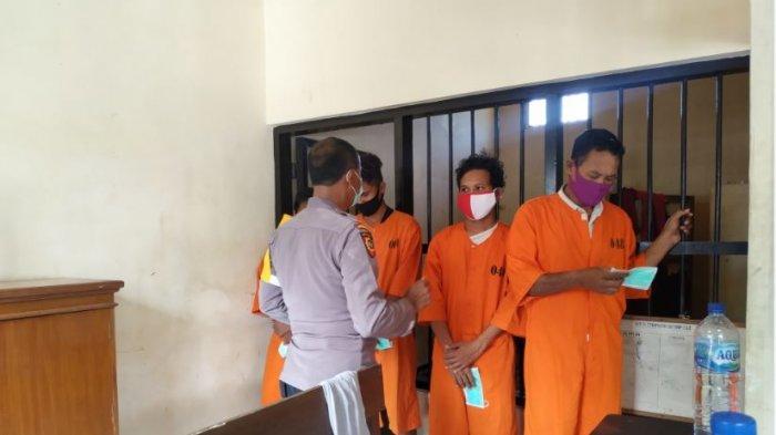 Tahanan Polres Klungkung Dibagikan Masker Agar Dapat Terapkan Protokol Kesehatan