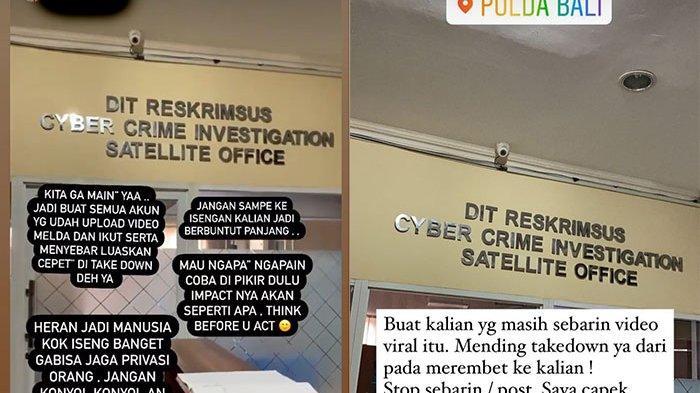 Terkait Video Bajunya Melorot Yang Viral di Medsos, Melda Rosita Lapor Polda Bali