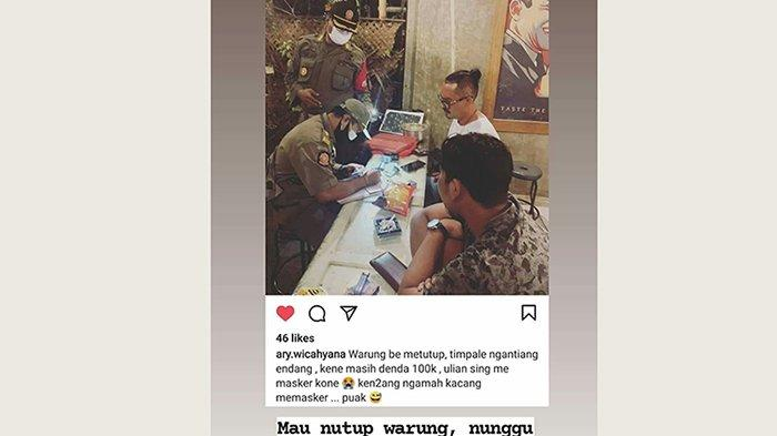 Viral di Medsos Pemilik Warung Didenda Lantaran Menunggu Hujan Reda, Ini Kata Satpol PP Denpasar
