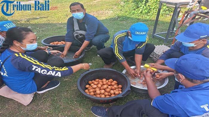 Hari Pertama Dapur Darurat di Klungkung, Tagana Akan Salurkan 1600 Telur Rebus ke Nakes
