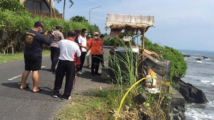 Disurvei Tim Penanggulangan Bencana, Tebing Jebol di Jalan Pantai Mengening Badung Segera Diperbaiki