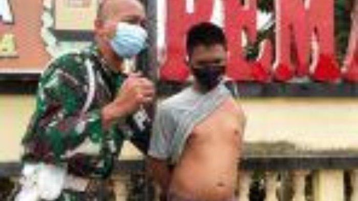 Mengharukan, Tentara Menangis di Depan Mapolres Minta Keadilan, Tangan Kiri Anaknya Putus