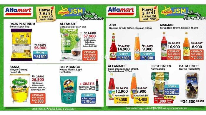 TINGGAL 2 HARI Promo JSM Alfamart, Beras Rp54.900, Mi Instan, Sirup, Aneka Biskuit Turun Harga