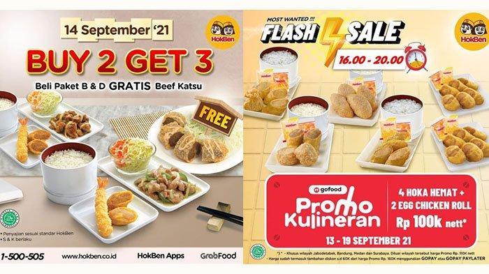 TERBARU! PROMO HokBen 14 September 2021: Order Paket B dan Paket D, Gratis 1 Porsi Beef Katsu