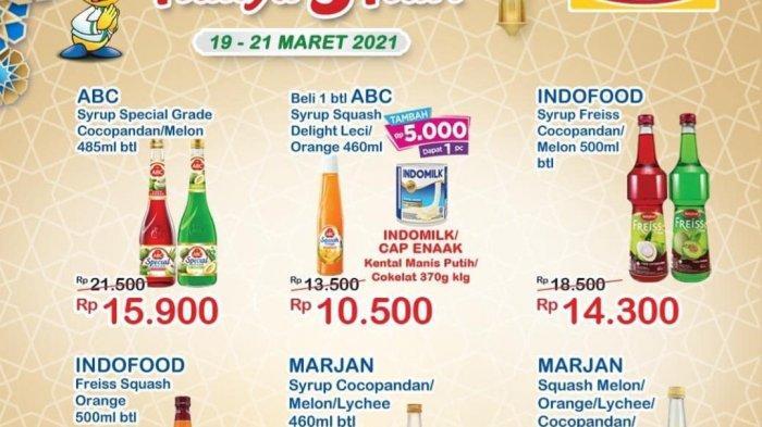 TERBARU, Promo Indomaret hingga 21 Maret 2021 BANJIR DISKON, Sirup ABC Rp10.500, Pepsodent Rp11.500
