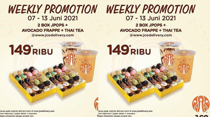 TERBARU! Promo J.CO 11-13 Juni 2021, 2 Boks Donat J.Pops + 2 Jenis Minuman Cuma Rp149.000