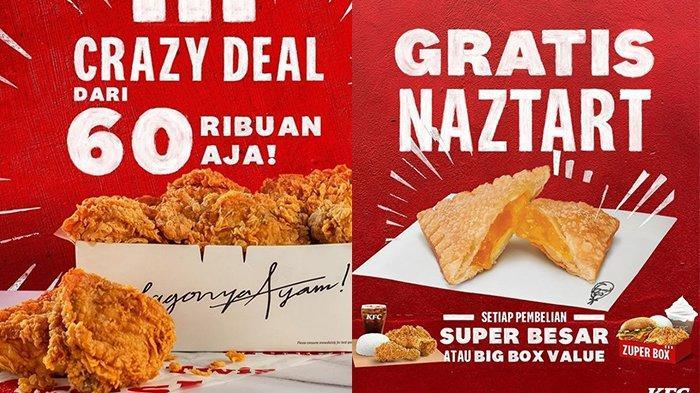HANYA Rp 60 RIBUAN, Nikmati PROMO KFC Hari Ini Senin 2 Agustus 2021, Ada Dessert Naztart