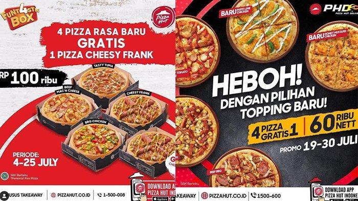 BARU! Promo Pizza Hut hingga 30 Juli 2021, 5 Pizza Cuma Rp100.000, Pizza Heboh Rp60.000