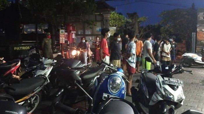 Terlibat Aksi Trek-Trekan, 10 Anak di Bawah Umur Diamankan Petugas Linmas Ungasan Badung Bali