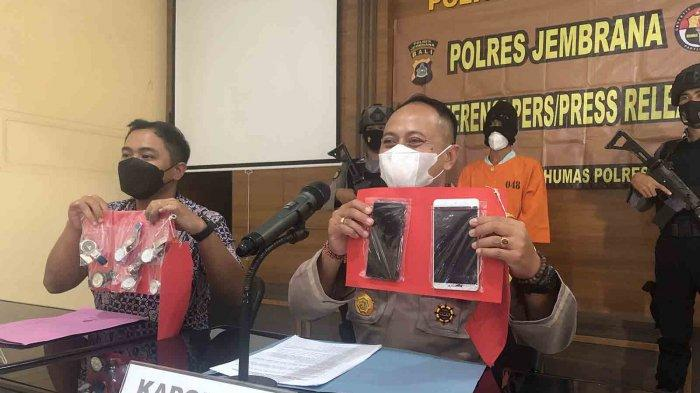 Diburu Hingga Palembang, Aprianto Pembobol Konter HP Diringkus Polres Jembrana