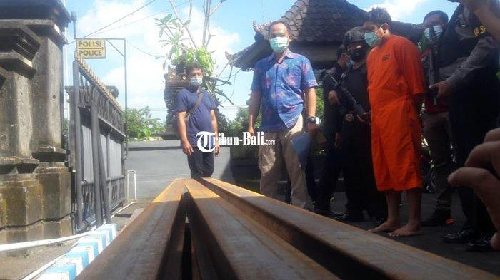 Pemborong Bangunan Made Pariana Asal Denpasar Nekat Curi Besi Seberat 1,5 Ton di Proyeknya Sendiri
