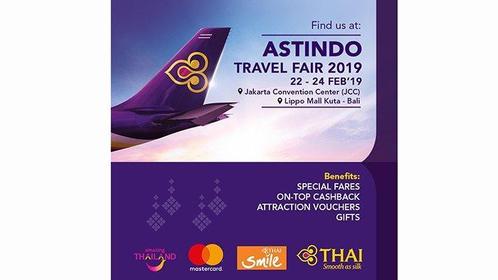 Thai Airways Beri Banyak Keuntungan di ASTINDO Travel Fair di Kuta, Diskon Hingga Voucher Gratis
