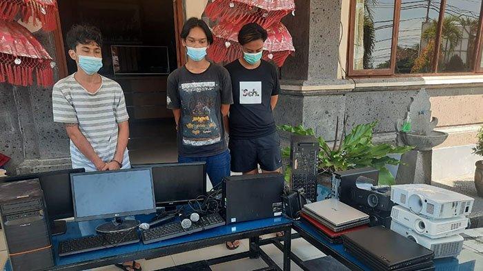 Gung Uneng, Gus Duta, dan Dek Dita Ditangkap Polisi, Gasak Berbagai Barang di 6 Sekolah di Buleleng