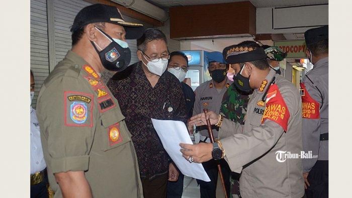 Tim Gabungan Gelar Sidak di Swalayan, Grapari dan Hotel di Denpasar, Masih Ditemukan Kerumunan