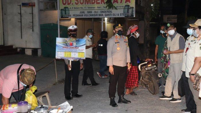 Hari Kedua PPKM Darurat, Petugas Tindak 5 Orang yang Tidak Gunakan Masker di Tabanan