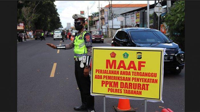 Tim Gabungan Lakukan Penyekatan Mendadak di Tabanan, 68 Kendaraan Diminta Putar Balik