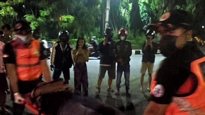 Alami Kecelakaan di Jalan Gatot Subroto Denpasar, Mulut Pria Ini Tercium Bau Alkohol