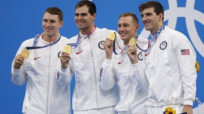 UPDATE: Hasil Renang Olimpiade Tokyo 2021, Tim Renang AS Sabet Emas dan Pecahkan Rekor Dunia