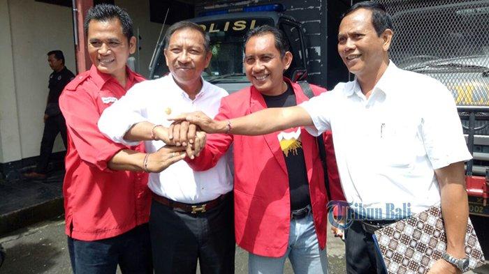 Pertemuan Tim Pemenangan 2 Paslon Cagub dan Cawagub Bali di Polres Tabanan untuk Kesepakatan Ini