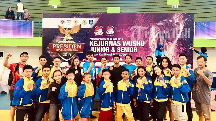 Bali Bawa Pulang 2 Medali Emas Kejurnas Wushu Junior & Senior 2019