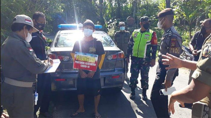 Tak Gunakan Masker, Lima Warga Bangli Kembali Terjaring Operasi Yustisi
