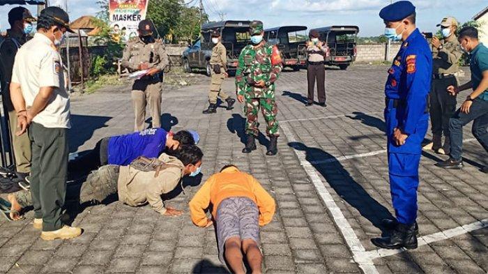 Gelar Sidak di Pasar Adat Buduk, Tim Yustisi Pemburu Prokes Polres Badung Temukan 14 Pelanggaran