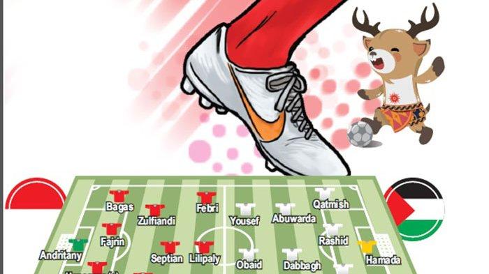 LINK Siaran Langsung Timnas Indonesia Vs Palestina di ASIAN Games 2018, Hari Ini Pukul 20.00 Wita