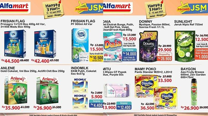 Promo JSM Alfamart Tinggal 13 Juni 2021, Daia 850G Rp14.000, Susu Kental Manis Rp4.400, UHT Rp10.500