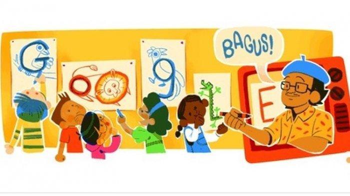 Selamat Ulang Tahun Tino Sidin, Guru Menggambar yang Jadi Google Doodle Hari Ini