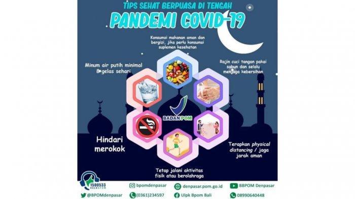 Tips Sehat Berpuasa Ditengah Pandemi Covid-19 Ala BPOM