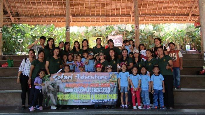 TK Saraswati 2 Denpasar Pilih Bali Safari Marine Park sebagai Tempat Berlibur