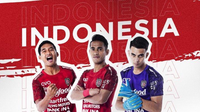 Trio Bali United Kadek Agung Widnyana, Sidik Saimima dan Nadeo Arga Winata