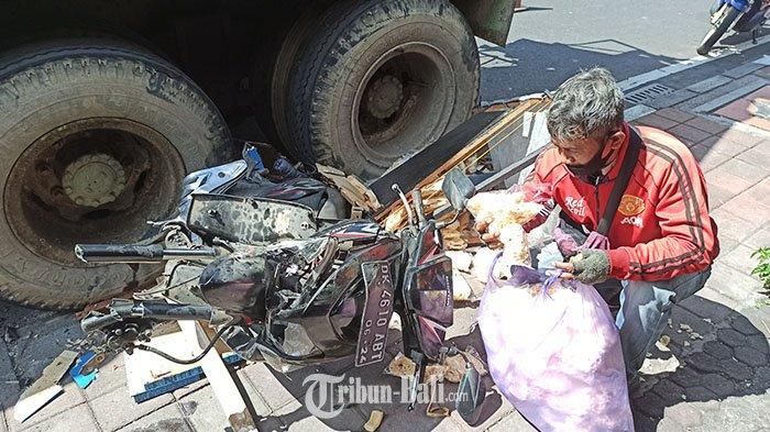 BREAKING NEWS: Truk Molen Tabrak Motor Penjual Krupuk di Mengwi, Sopir: Syukur Kena Motor, Pak