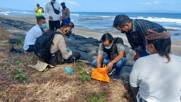 Seorang Warga Temukan Tulang Belulang di Pantai Keramas Gianyar