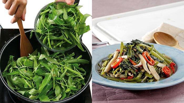 Tips Bikin Tumis Kangkung Super Enak dari Chef, Tambahkan Garam Saat Panaskan Minyak