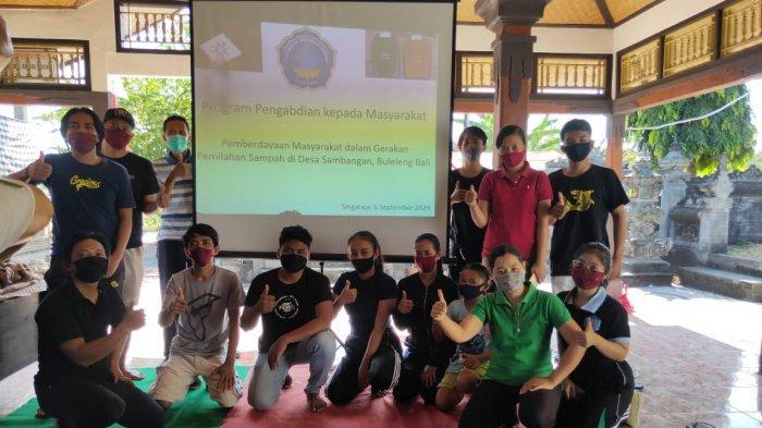 Undiksha Bersama Komunitas Biopori Warrior Lakukan Pelatihan Pemilahan Sampah Organik