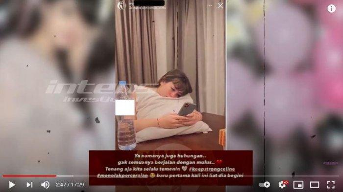 Unggahan foto yang memperlihatkan Celine Angelista sedang galau.