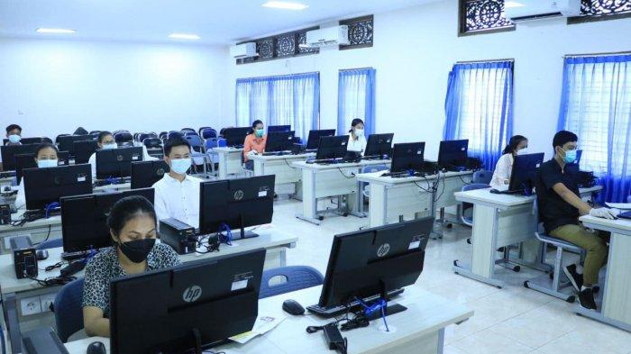 Peserta Wajib Negatif Swab/PCR, Unud Gelar UTBK SBMPTN dengan Prokes Ketat di Bali