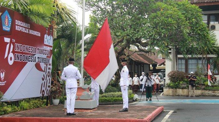 Tidak Ada Perayaan Unik, Peringatan HUT RI ke-76 di Klungkung Berlangsung Sederhana