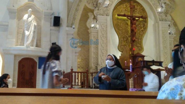 Gereja Katolik Katedral Denpasar Majukan Jadwal Ibadah, Bertepatan dengan Hari Raya Nyepi