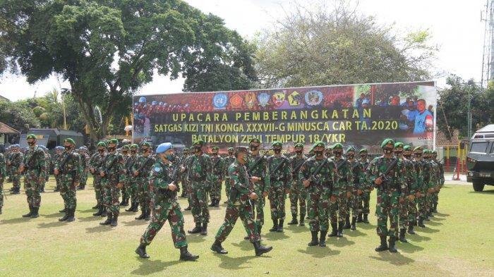 Prajurit Kodam IX/Udayana yang Tergabung dalam Pasukan PBB Hari Ini Berkumpul dengan Induk Pasukan