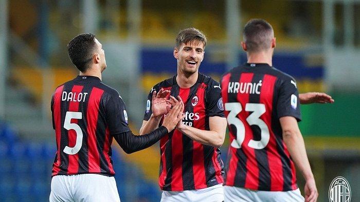 Update Hasil Liga Italia: Ibra Dikartu Merah 10 Pemain AC Milan Tampil Ciamik dan Kalahkan Parma.